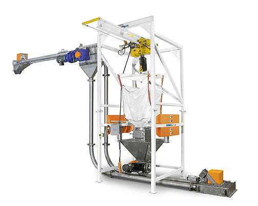 Vivarium Bulk Bag Unloader and Tubular Drag System Installation | Hapman.com