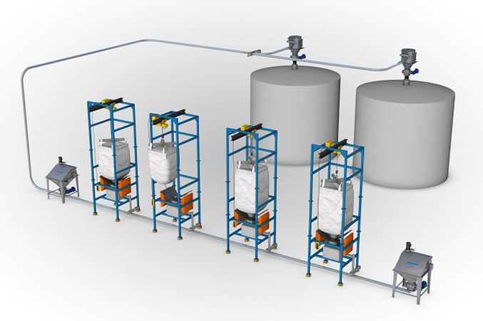 Illustration of a Hapman conveying system