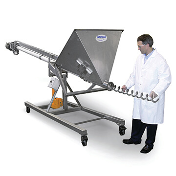 Quick-change Helix Hi/Lo Flexible Screw Conveyor | Hapman.com