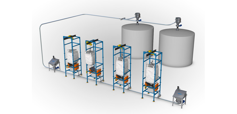 Illustration of a vacuum conveying system from a Hapman Application Review