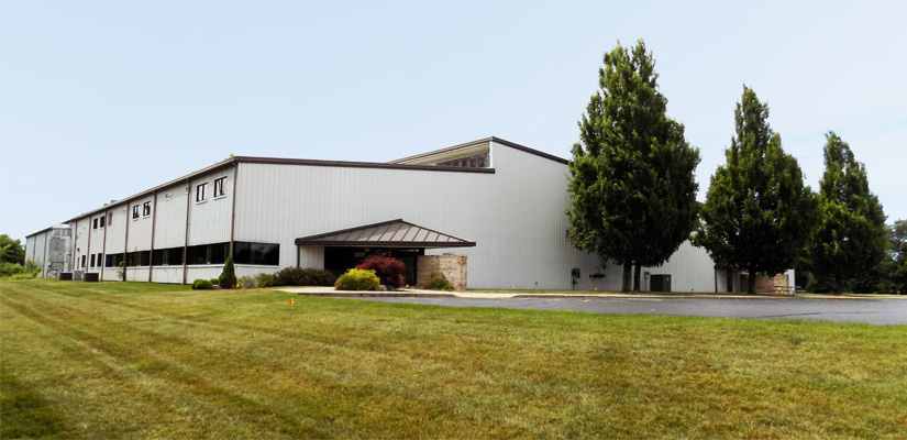 Photo of outside of Hapman's manufacturing facility in Kalamazoo, Michigan