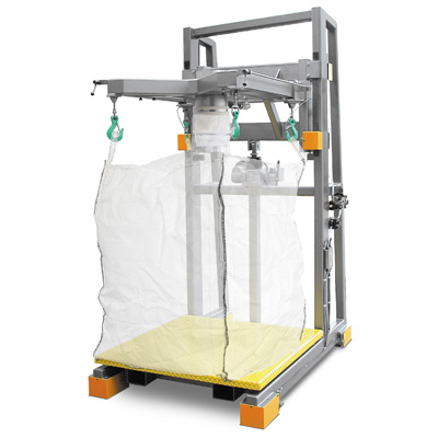 Front view of a bulk bag filler from Hapman