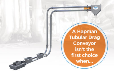 Blog post image of a Hapman Tubular Drag Conveyor